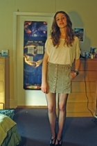 Target shirt - Gap skirt - stockings - farylrobin shoes