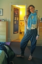 H&M t-shirt - Zara pants - Colin Stuart shoes - scarf - sweater