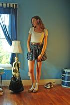 t-shirt - H&M skirt - belt - talbots lol shoes