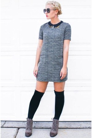 Derek Lam sunglasses - heather gray Marshalls boots - H&M dress