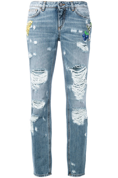 farfetch jeans dolce gabbana distressed boyfriend jeans by lisar5689 chictopia. Black Bedroom Furniture Sets. Home Design Ideas