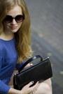 Blue-modstrom-suit-black-vintage-bag-black-vintage-sunglasses