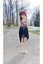 pleated Forever21 skirt - delias top