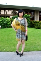 from beijing dress - bclub shoes - Dorothy Perkins purse - moms vintage belt - o