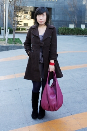 Zara coat - dept store dress - bought online vest - bought online tights - from