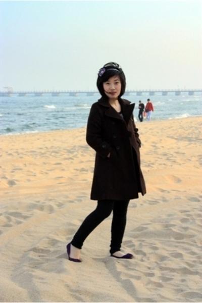 Zara Girls coat - orange juice top - Terranova leggings - from taiwan shoes - bo