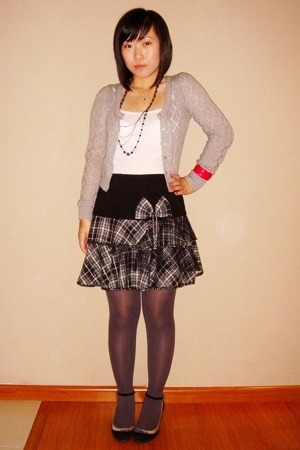 Robinsons blazer - top - bought from Taiwan skirt - bought online - shoes