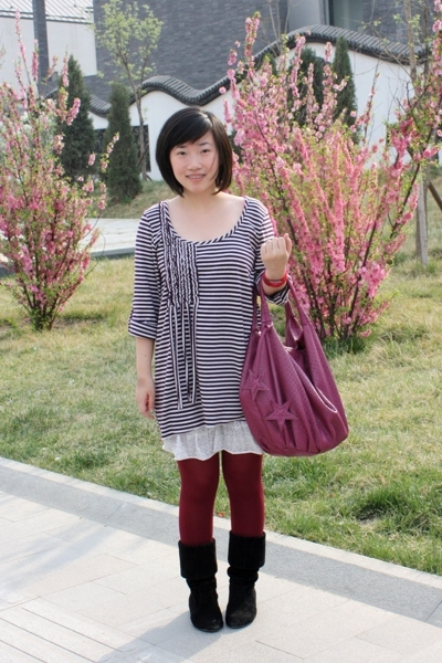 Scoop dress - bought online tights - from taiwan boots - NET purse