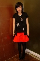 NET t-shirt - SM skirt - cinderella vest - bought online tights - bclub shoes -