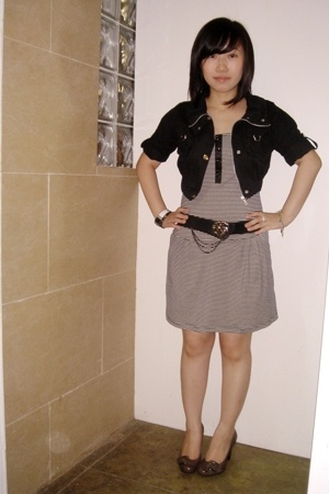 SM jacket - 168 dress - BCBG Girls shoes - moms vintage belt - own collection ac