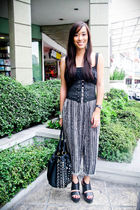 black Zara dress - black random brand pants - black Forever 21 shoes - black PBJ