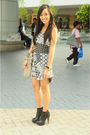 Gray-topshop-dress-silver-glitterati-skirt-black-topshop-boots-gray-random