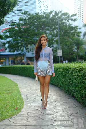 sky blue Topshop skirt