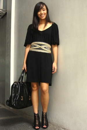 mphosis dress - Glitterati belt - Celine accessories - Forever 21 shoes