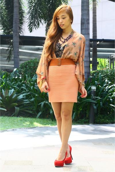 beige kimono Forever 21 top