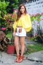 Heels-bought-online-shoes-zara-shorts-tassle-belt-tan-gan-top