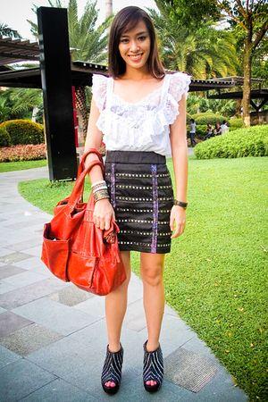 black Zara shoes - black studded Glitterati skirt