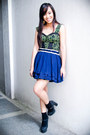 Army-green-forever-21-dress-blue-forever-21-skirt-black-forever-21-shoes