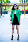 Green-it-was-given-to-me-as-a-gift-blazer-gray-people-are-people-shorts-blac