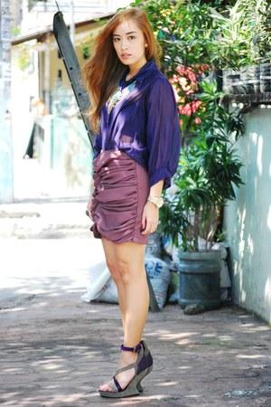 purple top - purple skirt