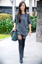 black heels given as a gift shoes - black Topshop tights