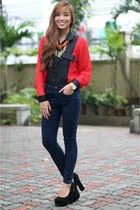 blue Topshop jeans