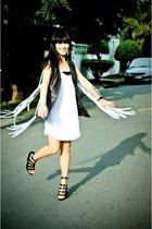 Zara vest - Zara dress - forever 21 shoes