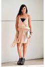 Pink-gift-from-hongkong-dress-beige-department-store-belt-gold-mafia-couture