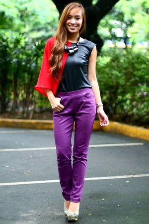 deep purple Kristines Collection pants