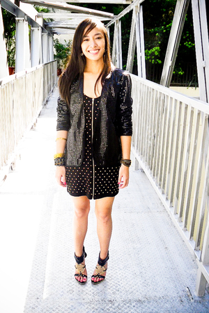 black sequined Poisonberry blazer - black michael antonio shoes