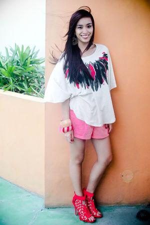 pink random brand shorts - pink heels bought online shoes