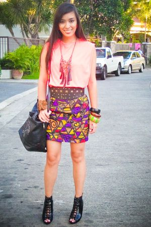 pink Glitterati top - purple Rockwell Bazaar skirt - black Glitterati belt - bla