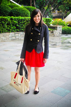 black Topshop blazer - pink Vice skirt - black random brand shoes - beige Michae