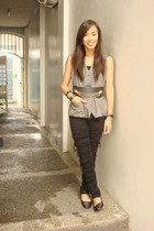 vest - Glitterati belt - Stylebreak jeans - shoes - random branddom brand access