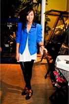 Lovevintagemanila blazer - Zara top - bought online leggings - shoes