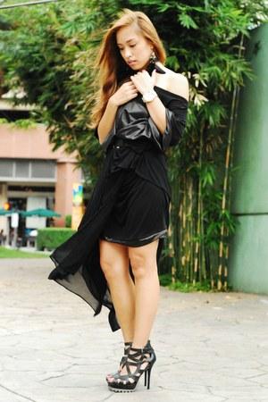 black heels Pedro shoes