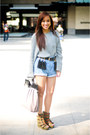 Olive-green-fivebyfive-shoes-gray-oversized-topshop-sweater-blue-denim-studd