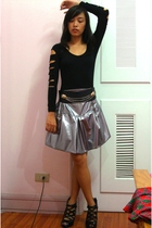 silver tinsel town Glitterati skirt - black bought online shoes