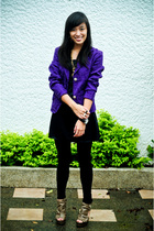 blazer - dress - Zara leggings - shoes - from my mom accessories - accessories
