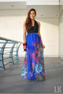 blue apartment 8 skirt