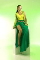 green random skirt