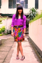 Zara top - 50th Avenue skirt - Zara belt - Grendha shoes