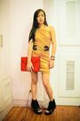 Gold-glitterati-dress-black-glitterati-belt-red-zarina-agduma-purse-black-