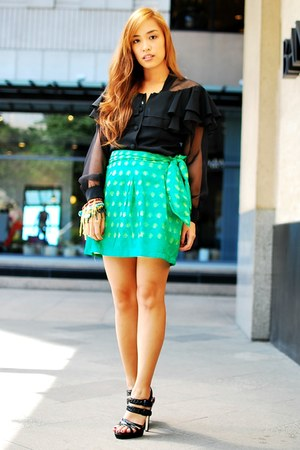 green kate spade skirt
