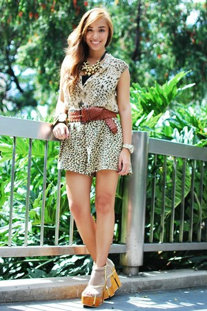 brown heels Gold Dot shoes