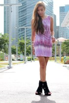 light purple tie dye sabrina dress