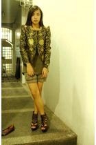 style district blazer - Topshop top - Zara shorts - bought online shoes