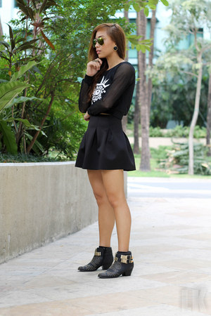black Forever 21 boots