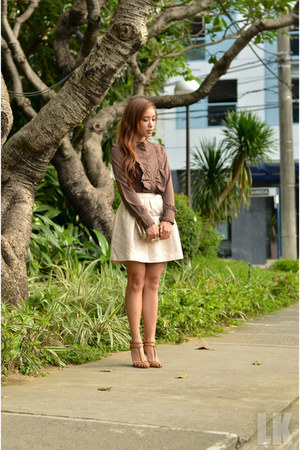 brown Zara top