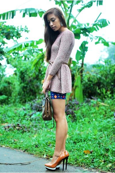 brown heels Zara shoes